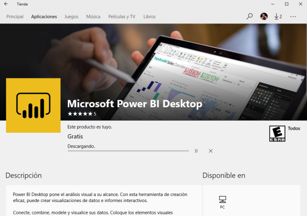 power bi desktop store