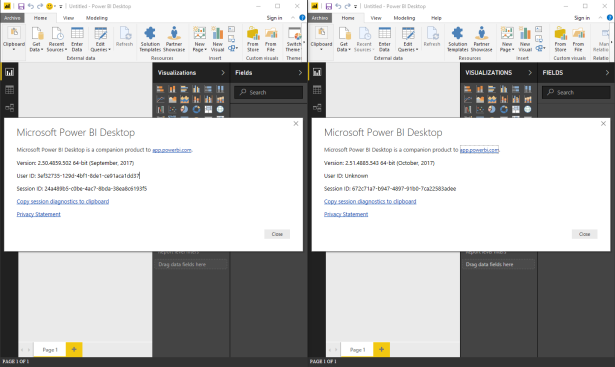 power bi desktop tienda side by side 2